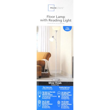 Mainstays 723939 combo floor lamp best teens39 lamps lighting for Mainstays floor lamp with reading light instructions