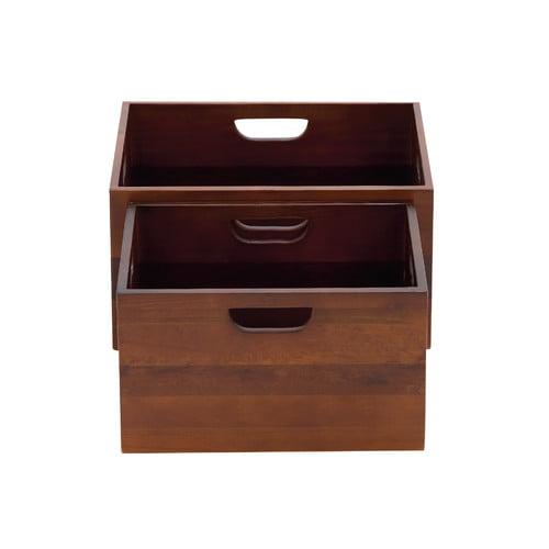 Woodland Imports 2 Piece The Sleek Wood Crate Set