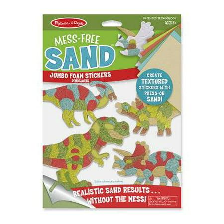 Melissa & Doug Mess-Free Sand Jumbo Foam Stickers, Dinosaurs