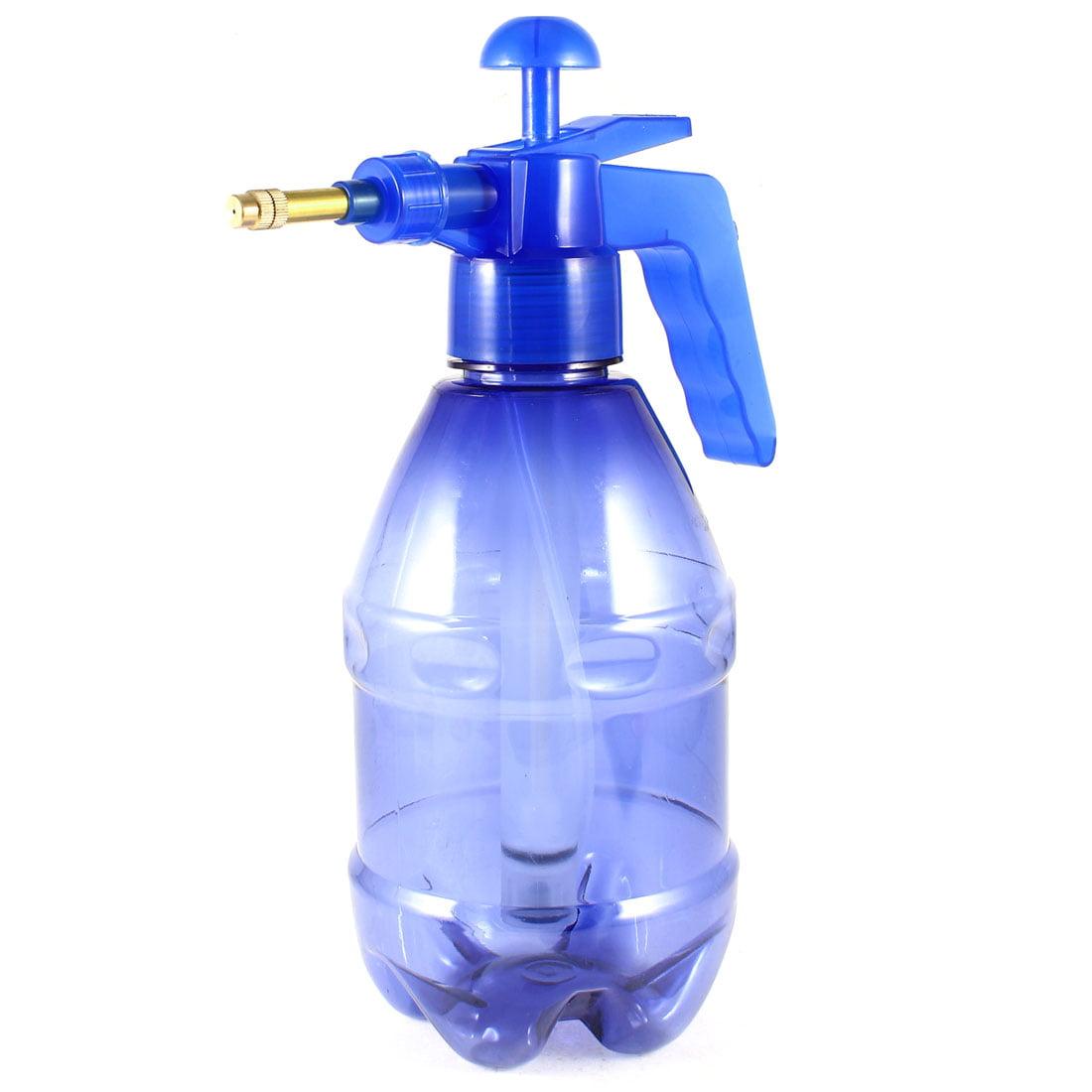 Unique Bargains Brass Nozzle 1.2L 1200ml Capacity Garden Chemical Spray Bottle Clear Blue