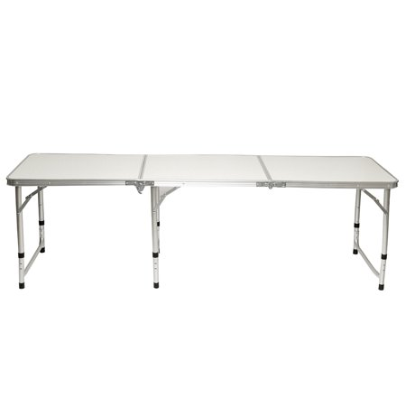 Foldable Aluminum Alloy Table with/wothout 6 Foldable Chairs Stools for Home House Outdoors Picnic(70''x24'') - image 7 de 13