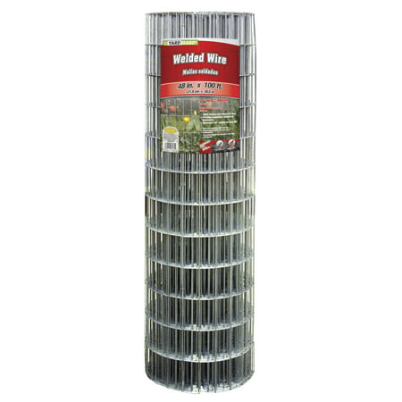 YARDGARD 48 Inch by 100 Foot Galvanized Welded Wire Fence