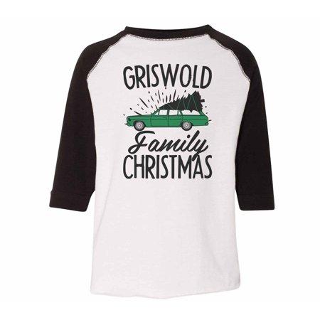 "3d86ae05 Funny Threadz - Kids Baseball Raglan Shirt ""Griswold Family Christmas"" Youth  & Toddler Tee, Black, 2T - Walmart.com"