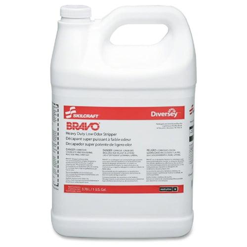 Skilcraft Bravo Heavy Duty Low Odor Floor Stripper 4 1 Gal Bottles Liquid Solution 1 Gal... by Skilcraft