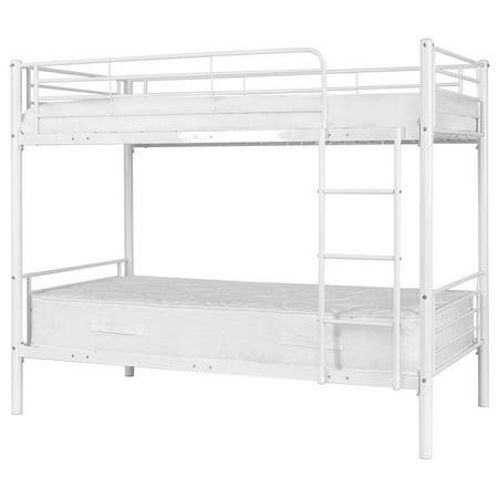 Costway Metal Twin Over Twin Bunk Beds Ladder Kids Teens Dorm Bedroom White - image 6 de 8