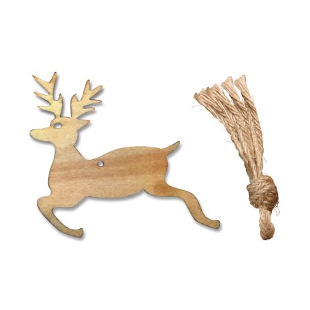 Angel Ornaments For Christmas Tree ((Pack of 10PCS) Aspire Christmas Tree Ornaments, Unfinished Wooden Angel Deer Bird Tree Slices Series for DIY Craft, Christmas)