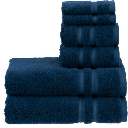 Mainstays Performance Bath Towel 6-Piece Set