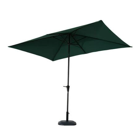 Aluminum Market Push On Tilt Rectangle Patio Umbrella