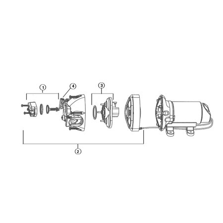 Flojet 21000-407A Triplex Diaphragm 3500 Series - Side Clips