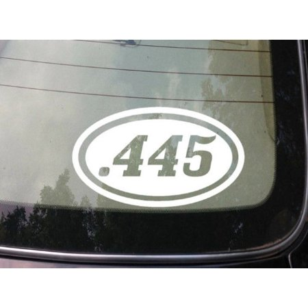 ".445 gun 6"" sticker ammo bullet 2a pistol obama 2nd amendment conceal carry *C131* thumbnail"