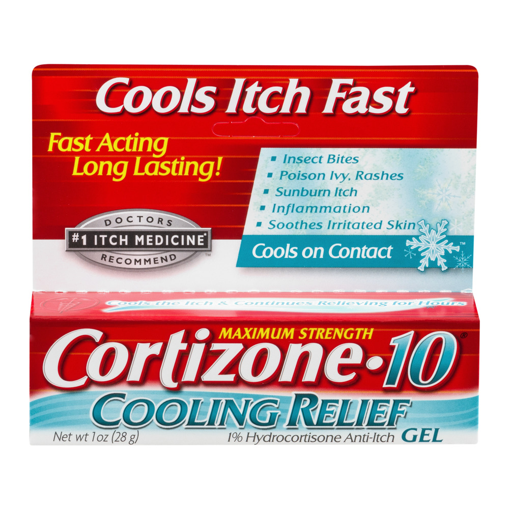 Cortizone 10 Maximum Strength Cooling Relief 1% Hydrocortisone Anti-Itch Gel, 1oz