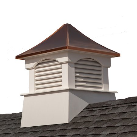 Coventry Cupola - Good Directions Coventry Vinyl Cupola with Copper Roof - 42