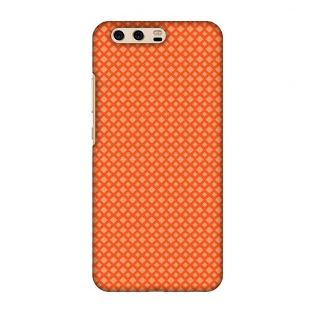 S15 Carbon (Huawei P10 Case, Premium Handcrafted Printed Designer Hard Snap on Shell Case Back Cover for Huawei P10 - Carbon Fibre Redux Tangy Orange)