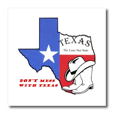 3dRose Do not Mess With Texas - Quilt Square, 6 by 6-inch