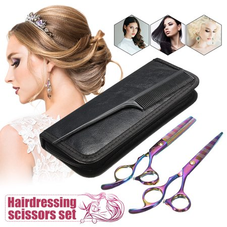 Professional Barber SALON Hair Cutting Thinning Scissors Shears Hairdressing Set