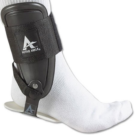Active Ankle T2 Rigid Ankle Brace, Black, Medium