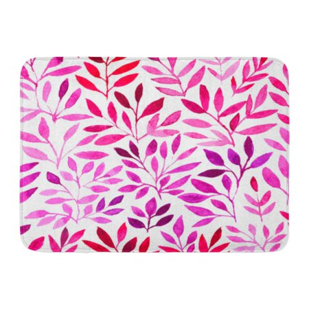 GODPOK Floral Leave Watercolor Retro Pattern with Purple Leaf Organic Graphic Which Use Under Mask Flower Brush Rug Doormat Bath Mat 23.6x15.7 -