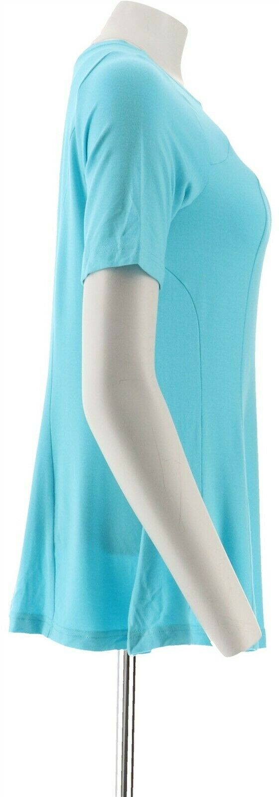 Belle Kim Gravel Essential Fit Flare Top Turquoise XL NEW A306976