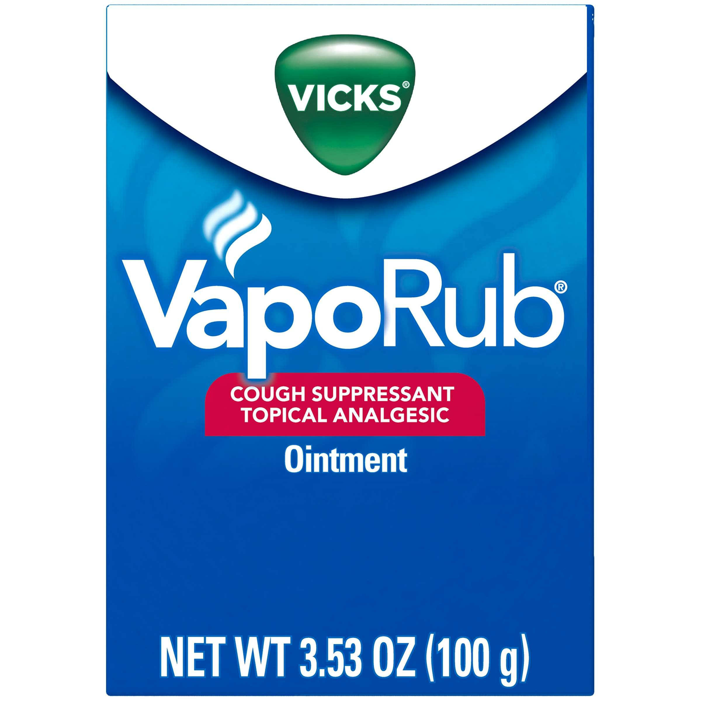Vicks VapoRub Chest Rub Ointment for Relief from Cough, Cold, Aches, and Pains, with Original Medicated Vicks Vapors, 3.53 oz