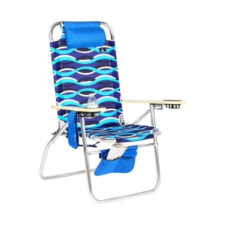 Sensational Deluxe Xl Wide Big Boy Aluminum Heavy Duty Beach Chair 17 Inches Seat Height 300 Lb Load Capacity Interior Design Ideas Pimpapslepicentreinfo