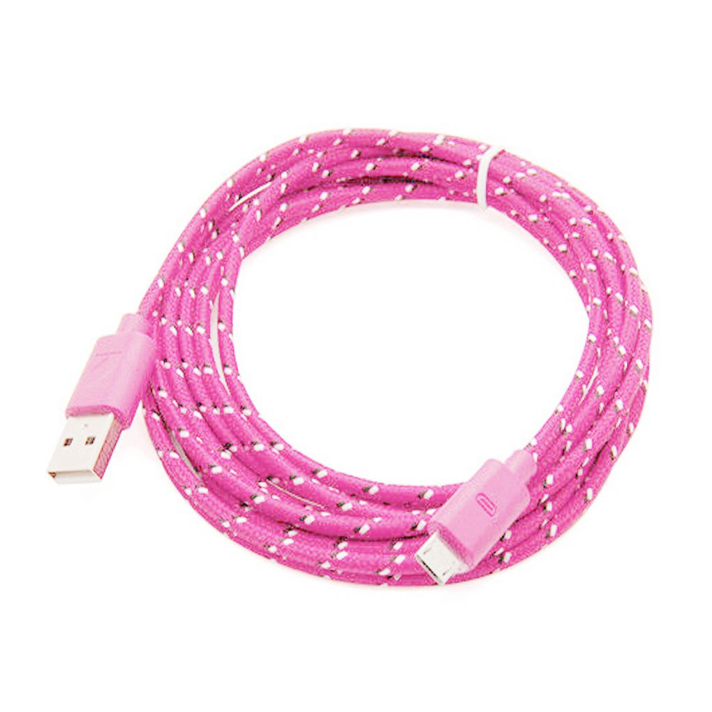 3 PCS Data Line Hemp Rope Usb Charger Sync Data Cable For Cell Phone