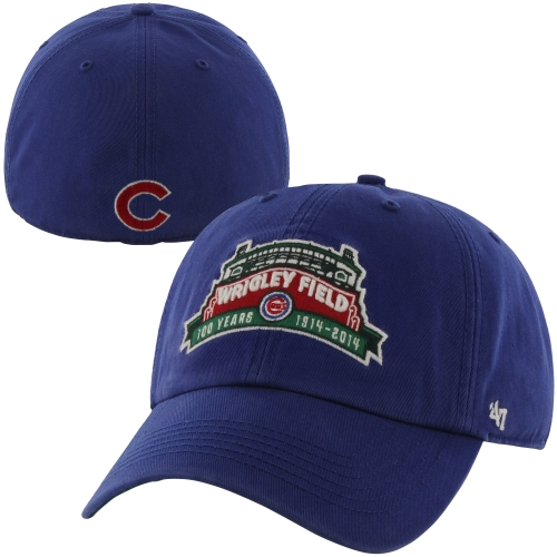 '47 Brand Chicago Cubs Wrigley Field 100 Years Marquee Fitted Hat - Royal Blue