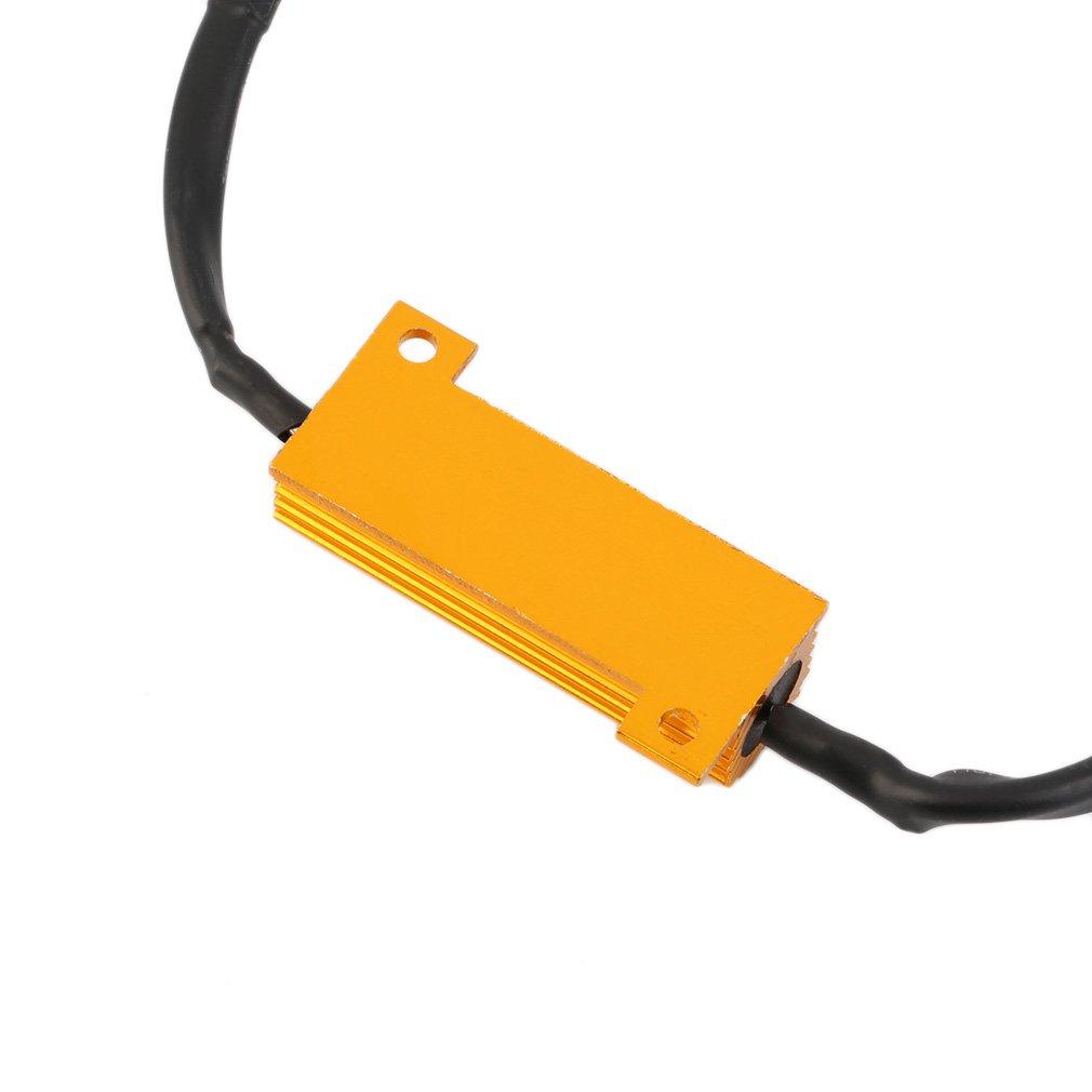 h7 h11 50w 6 ohm led drl fog light load resistor wiring harness dc h7 h11 50w 6 ohm led drl fog light load resistor wiring harness dc 12 24v