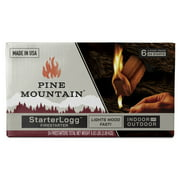 Pine Mountain StarterLogg Firestarter, Easy Starters for Indoor & Outdoor, 24 Pack Firestarter Wood Fire Log for Fireplace, Campfire, Wood Stove, Fire Pit