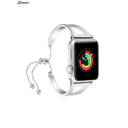 0a6c7f299d0 Spencer - Spencer Compatible Apple Watch Band Stainless Steel Metal Pendant  Bracelet Bangle Wristband for Apple Watch Series 4 3 2 1 38mm