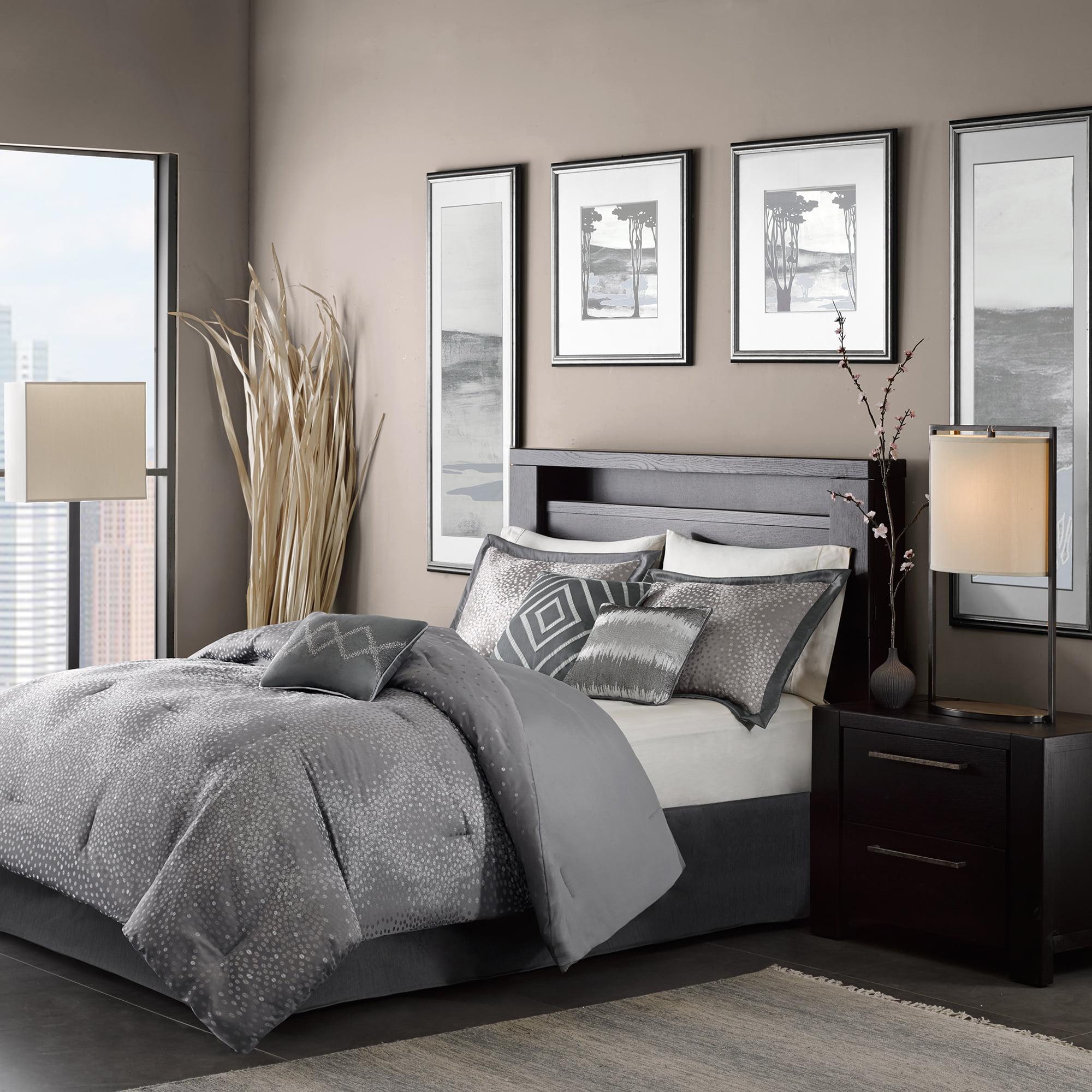 Gray Garner Modern Diamond Multiple Piece Comforter Set (California King) - 7 Piece