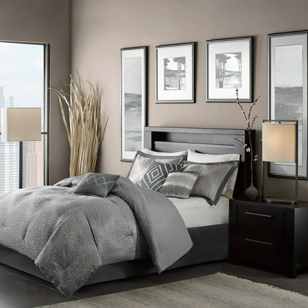 Gray Garner Modern Diamond Multiple Piece Comforter Set (California King) - 7 Piece