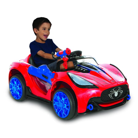 Spiderman-marvel 6 Volt Spider-man Super Car for Kids (Corvette Electric Car For Kids)