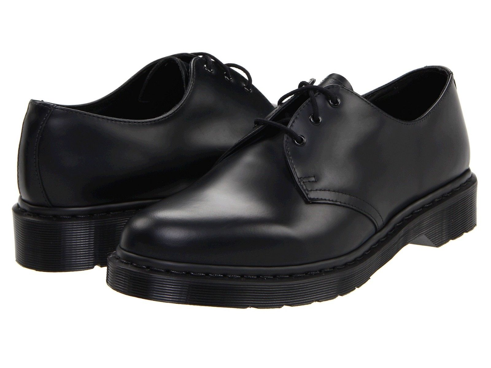 Dr. Martens 1461 Mono Men's Shoes 3 Eye Leather Oxfords 14345001 Black by Dr. Martens