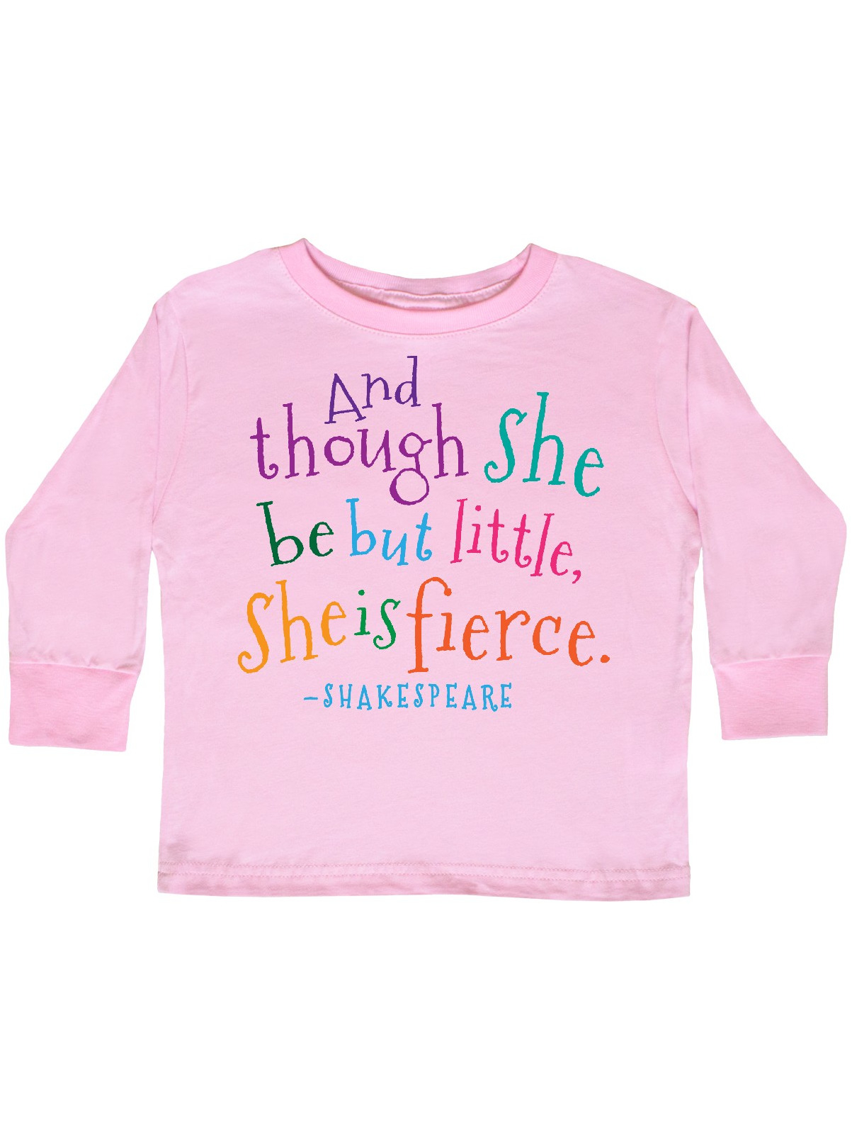 3fae48ddb3 Inktastic - Funny Shakespeare Quote Toddler Long Sleeve T-Shirt -  Walmart.com
