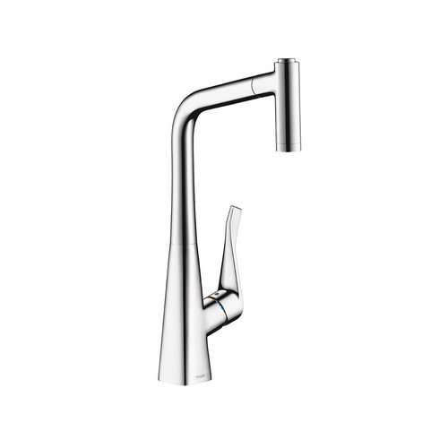 Hansgrohe 04508800 Metris Pullout Spray Prep Kitchen Faucet with Magnetic  Docking and Locking Spray Diverter, Various Colors