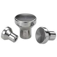 """KIPP Stainless Steel Mushroom Knob, M3 Thread Size, 0.71"""" Dia., K0250.003"""