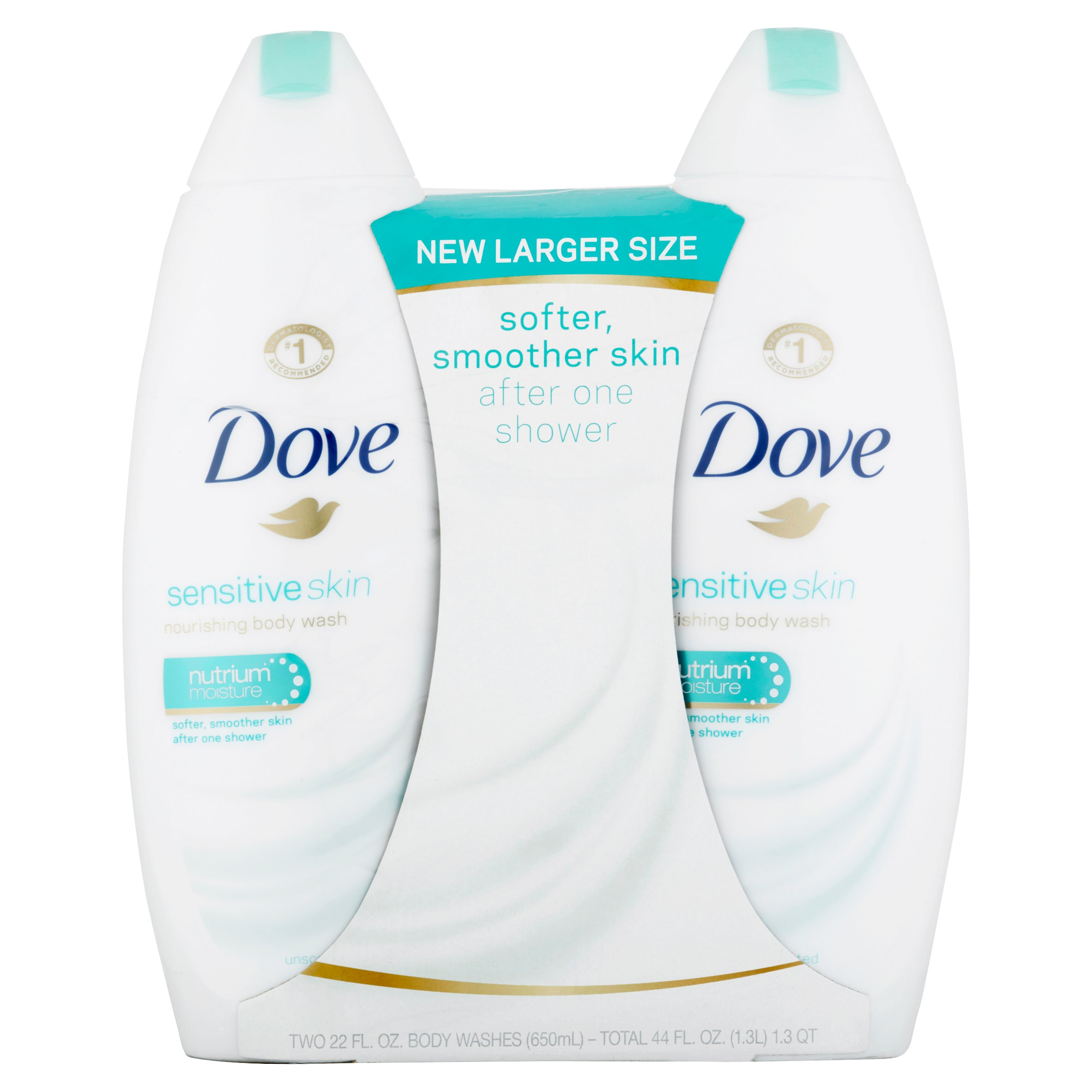 Dove Sensitive Skin Body Wash 22 oz, Twin Pack