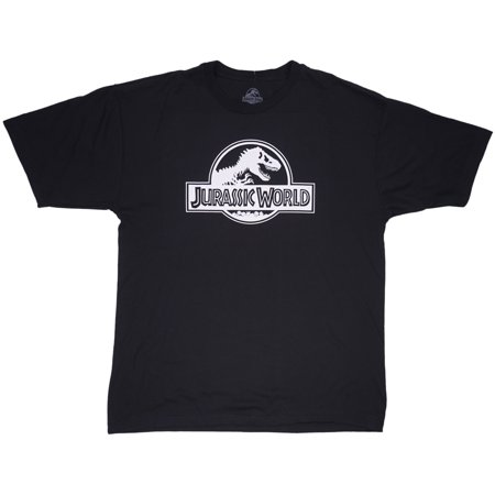 Jurassic World T-Shirt Black Plus Size Mens Movie Top - Plus Size Men
