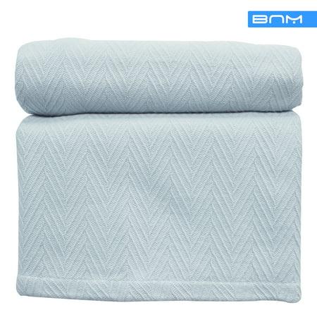 Striped Reversible Blanket, Wrinkle Free Microfiber, Lightweight, 8