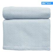 Striped Reversible Blanket, Wrinkle Free Microfiber, Lightweight, 8 Colors