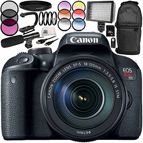 Canon EOS Rebel T7i DSLR Camera with 18-135mm Lens 13PC A...