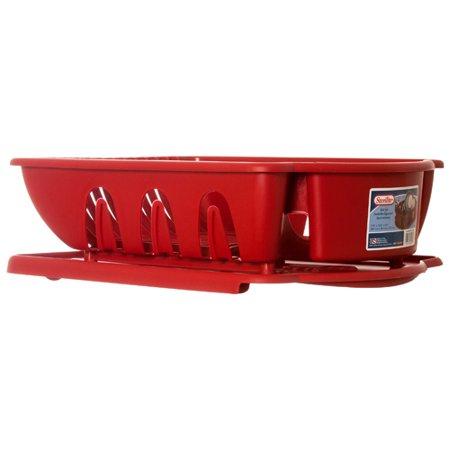 New 342572  Sterilite Sink Set Red (6-Pack) Kitchen Utensil Cheap Wholesale Discount Bulk Kitchenware Kitchen Utensil (Cheap Kazoos Bulk)