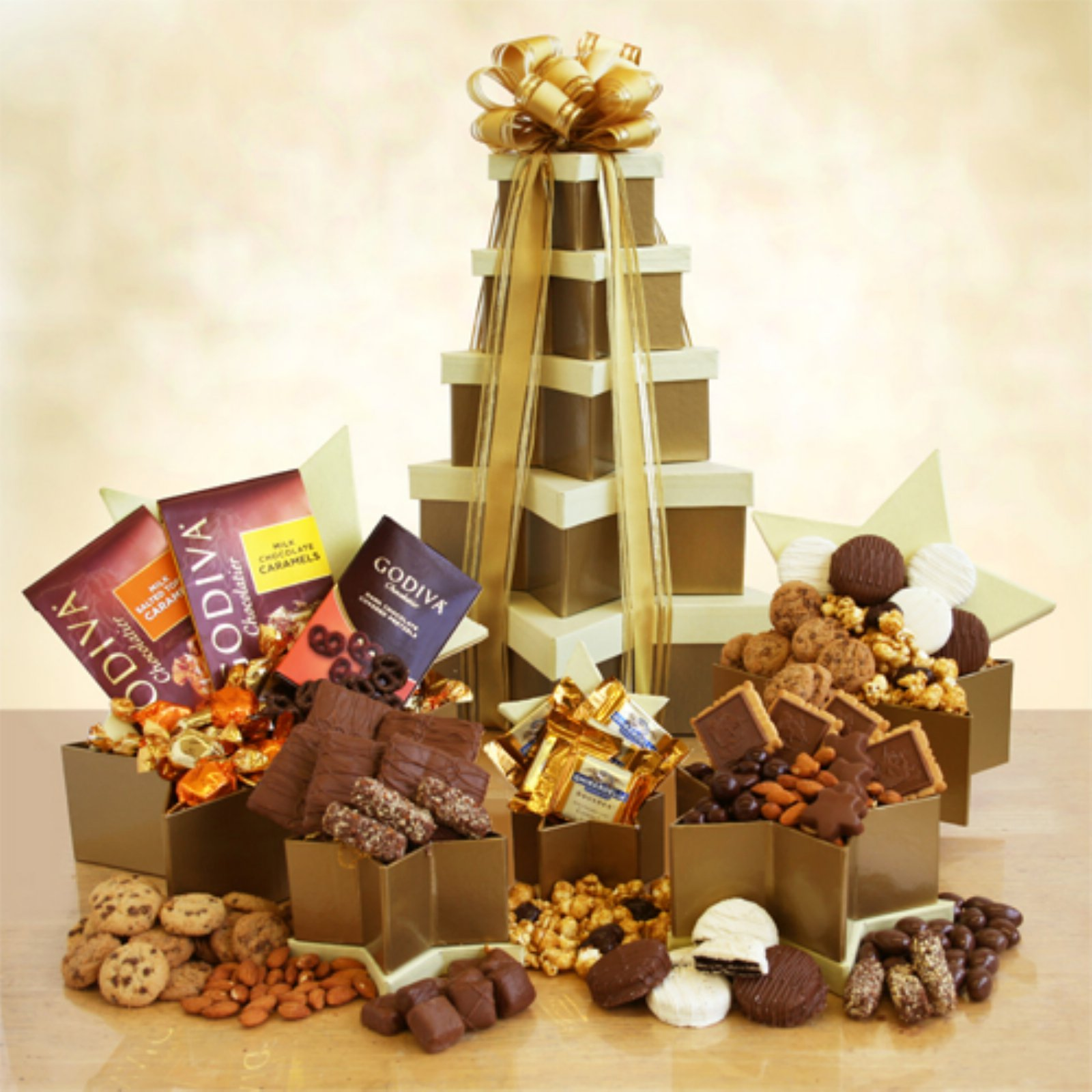 Golden Star Chocolate Elegance Tower