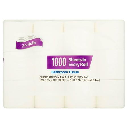1000 Sheets Toilet Paper, 24 Rolls - Walmart.com