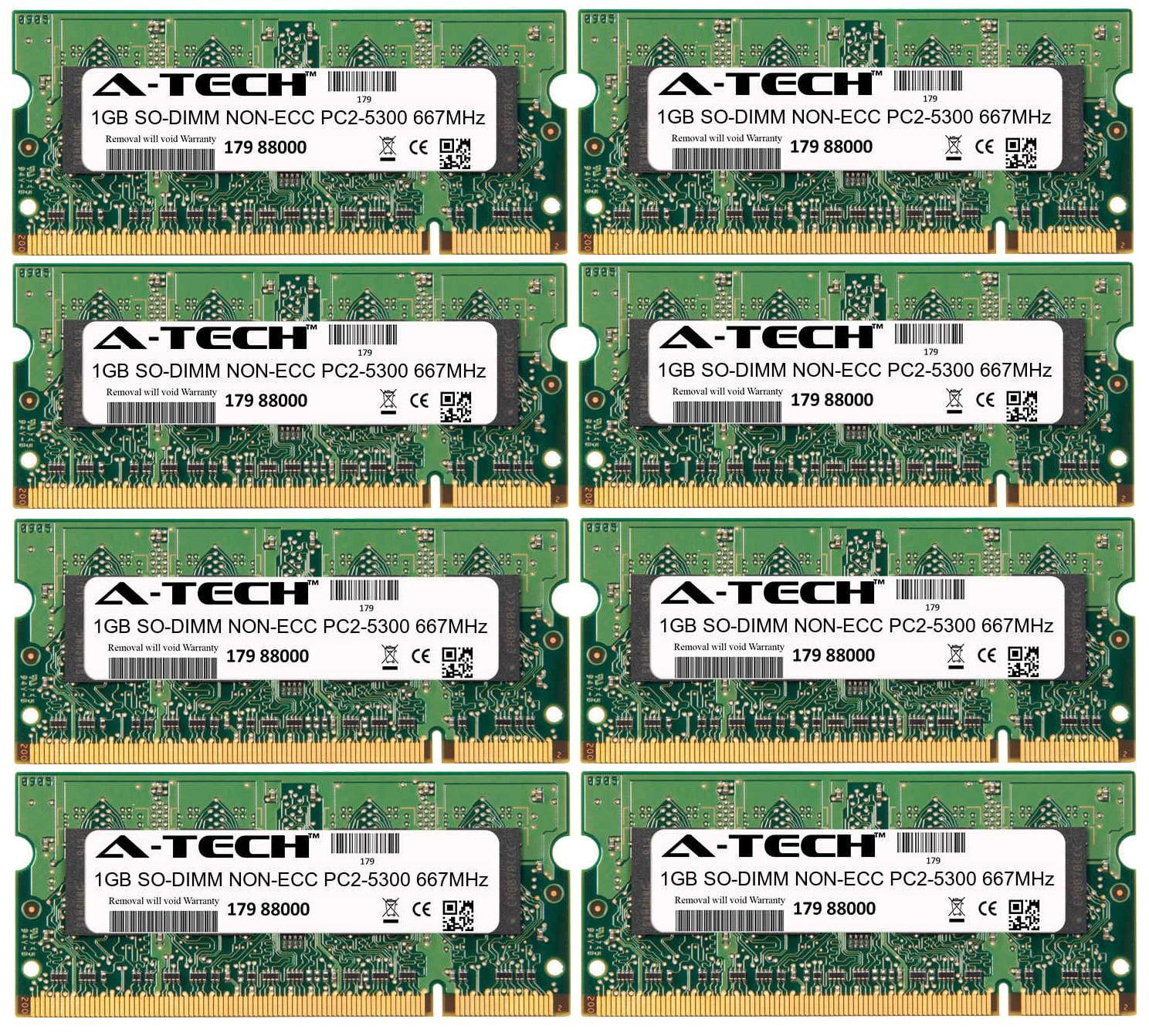 8GB Kit 8x 1GB Modules PC2-5300 667MHz NON-ECC DDR2 SO-DI...