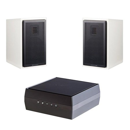 Martin Logan Motion 15 Bookshelf Speakers Gloss White Pair And Forte Wireless Amplifier Bundle
