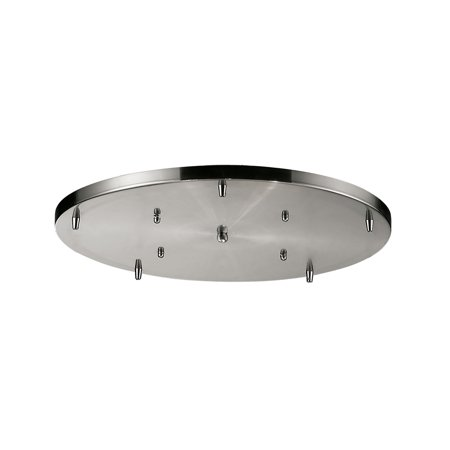 Acc Satin Nickel Round Pan 5-Lights for Item