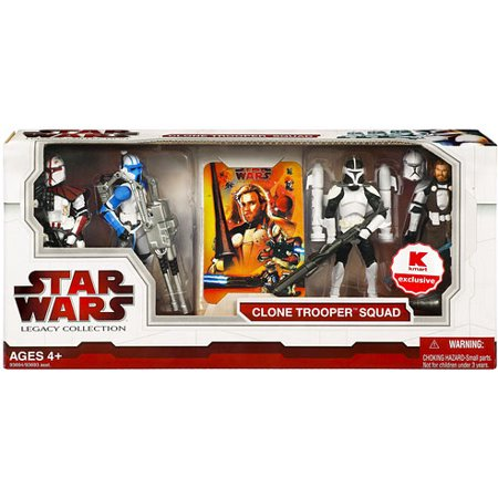 Star Wars Legacy Collection 2009 Clone Trooper Squad Action Figure Set Power Clone Solution