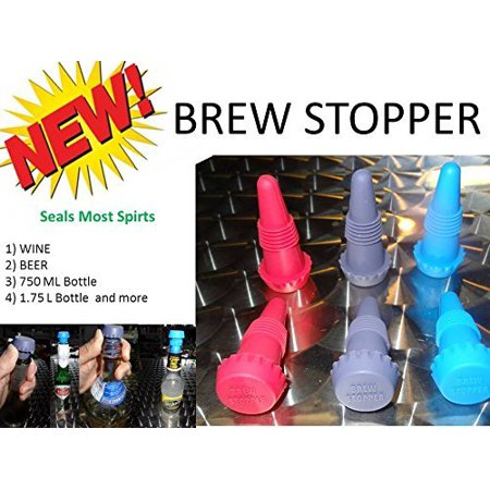 Brew Stopper 6 Pack Ideal Wine Stopper Beer Stopper Spirt Compare to Rabbit Wine and Beverage Bottle](Spirt Stores)