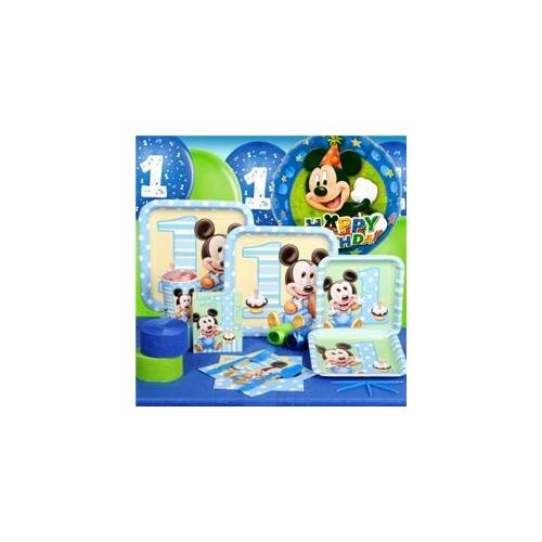 Costumes 189240 Mickeys 1st Birthday Standard Party Pack